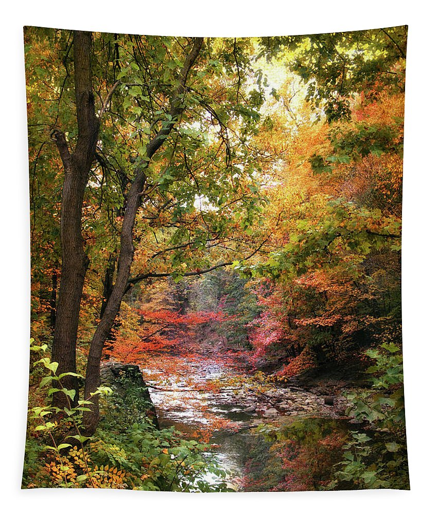 Nature Tapestry featuring the photograph Stream Of Consiousness by Jessica Jenney