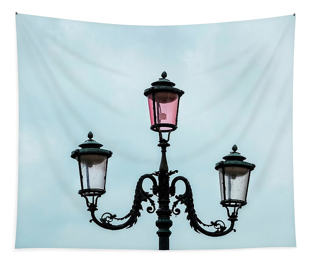 Venice Tapestry featuring the photograph Street Lamp Of Venice by Kay Brewer