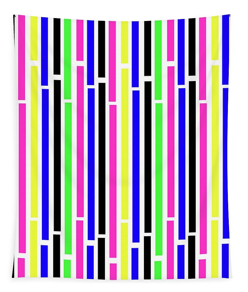 Pattern Tapestry featuring the digital art Stripes by Louisa Knight