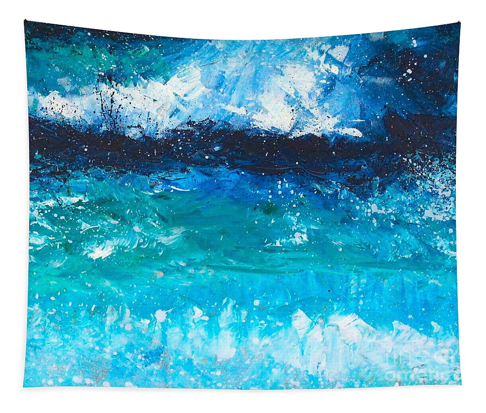 Ocean Tapestry featuring the painting Strong Current by Alan Metzger