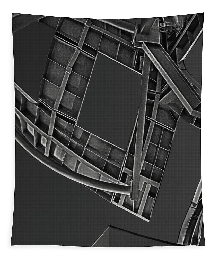 Structure Tapestry featuring the photograph Structure - Center For Brain Health - Las Vegas - Black And White by Mitch Spence