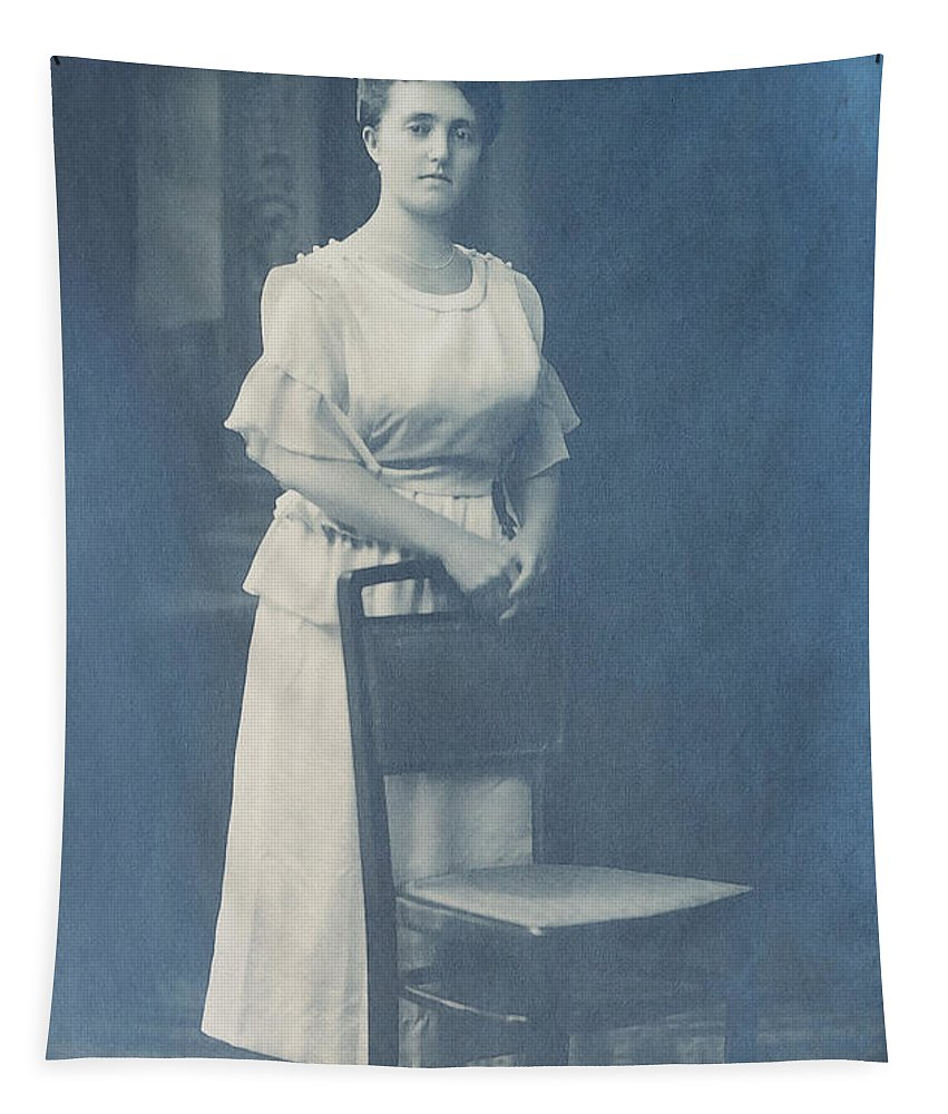 Photo Tapestry featuring the photograph Studio Portrait by Jutta Maria Pusl