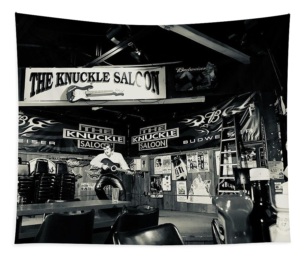 Portrait Tapestry featuring the photograph Sturgis Saloon by FlyingFish Foto