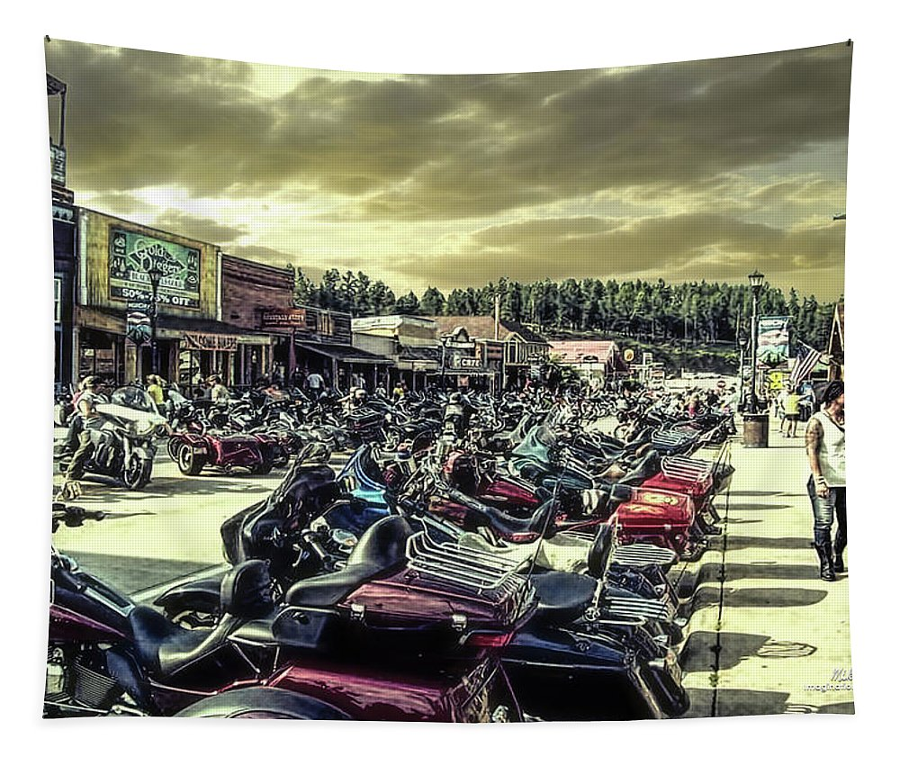 Sturgis Tapestry featuring the photograph Sturgis Week by Mike Braun