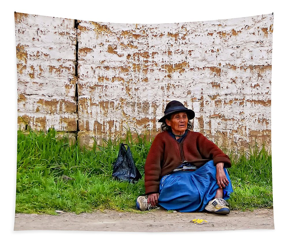 Woman Tapestry featuring the photograph Such a Long Journey II by Steve Harrington