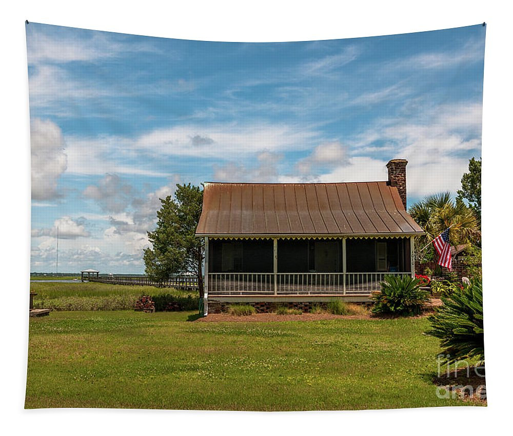 1010 Osceola Ave Tapestry featuring the photograph Sullivan's Island Gem by Dale Powell