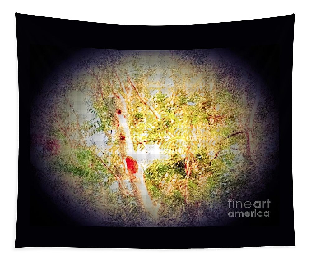 Tree Tapestry featuring the photograph Sumac Tree In The Sunlight by Debra Lynch