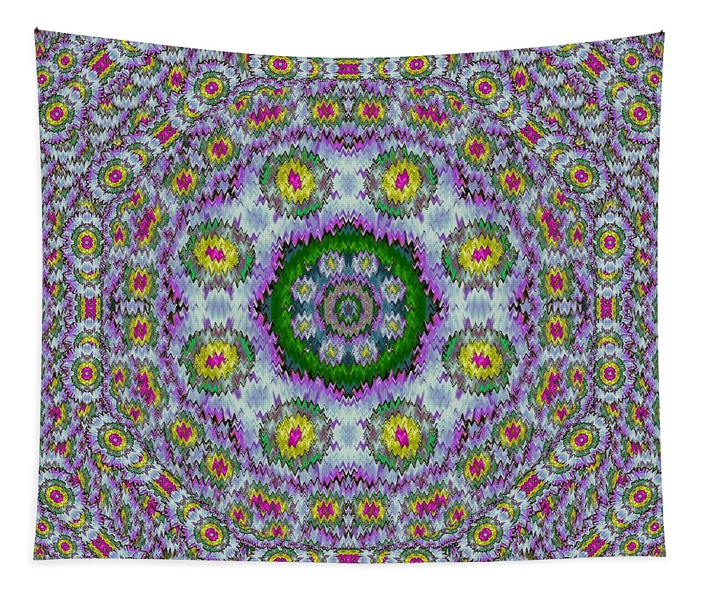Summer Tapestry featuring the mixed media Summer Bloom In Floral Spring Time by Pepita Selles