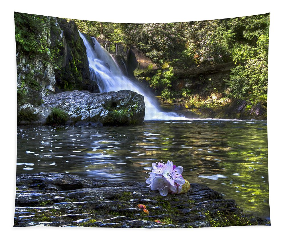 Appalachia Tapestry featuring the photograph Summer Bouquet by Debra and Dave Vanderlaan