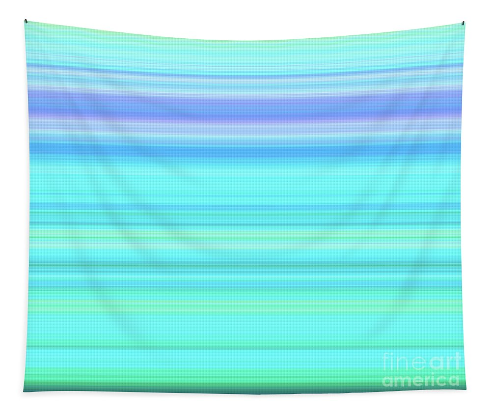 Abstract Tapestry featuring the digital art Summer Breeze Gradient by Leah McPhail