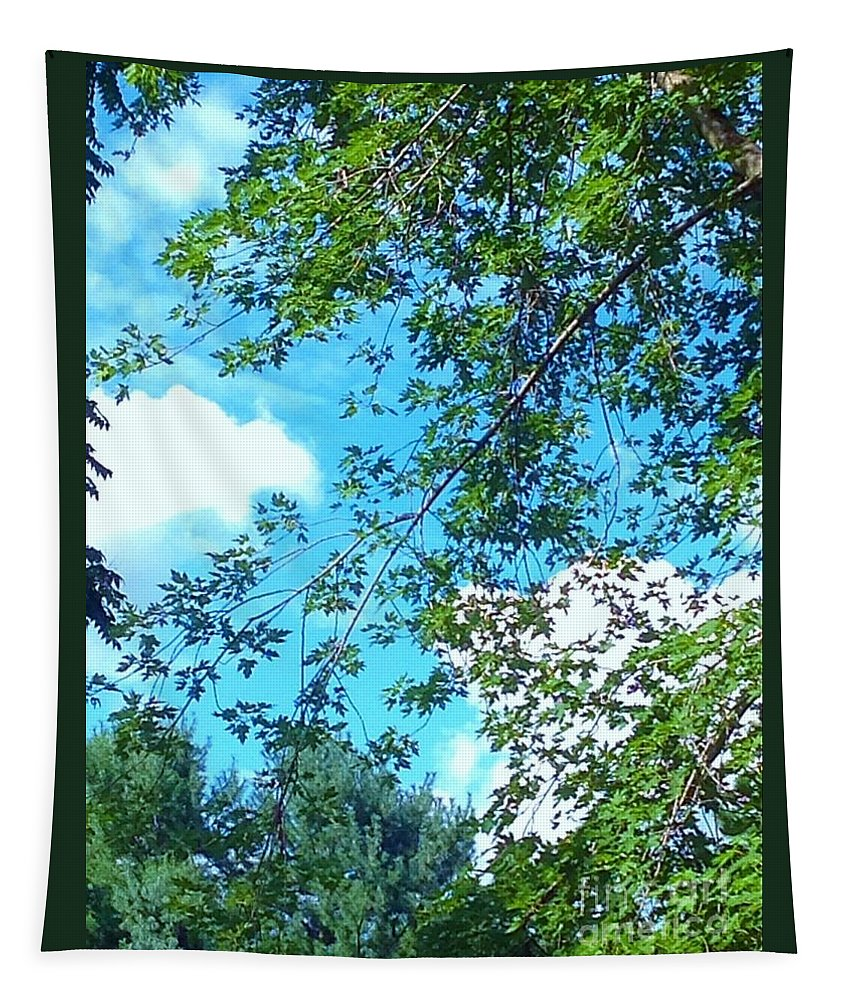 Trees Tapestry featuring the photograph Summer Clouds by Debra Lynch
