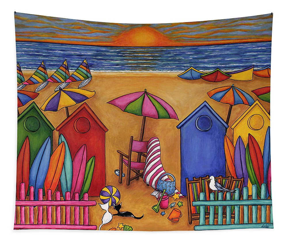 Summer Tapestry featuring the painting Summer Delight by Lisa Lorenz