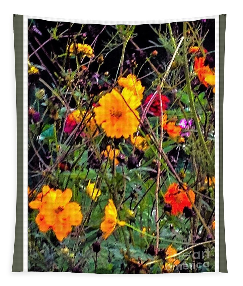 Summer Tapestry featuring the photograph Summer Flowers by Debra Lynch