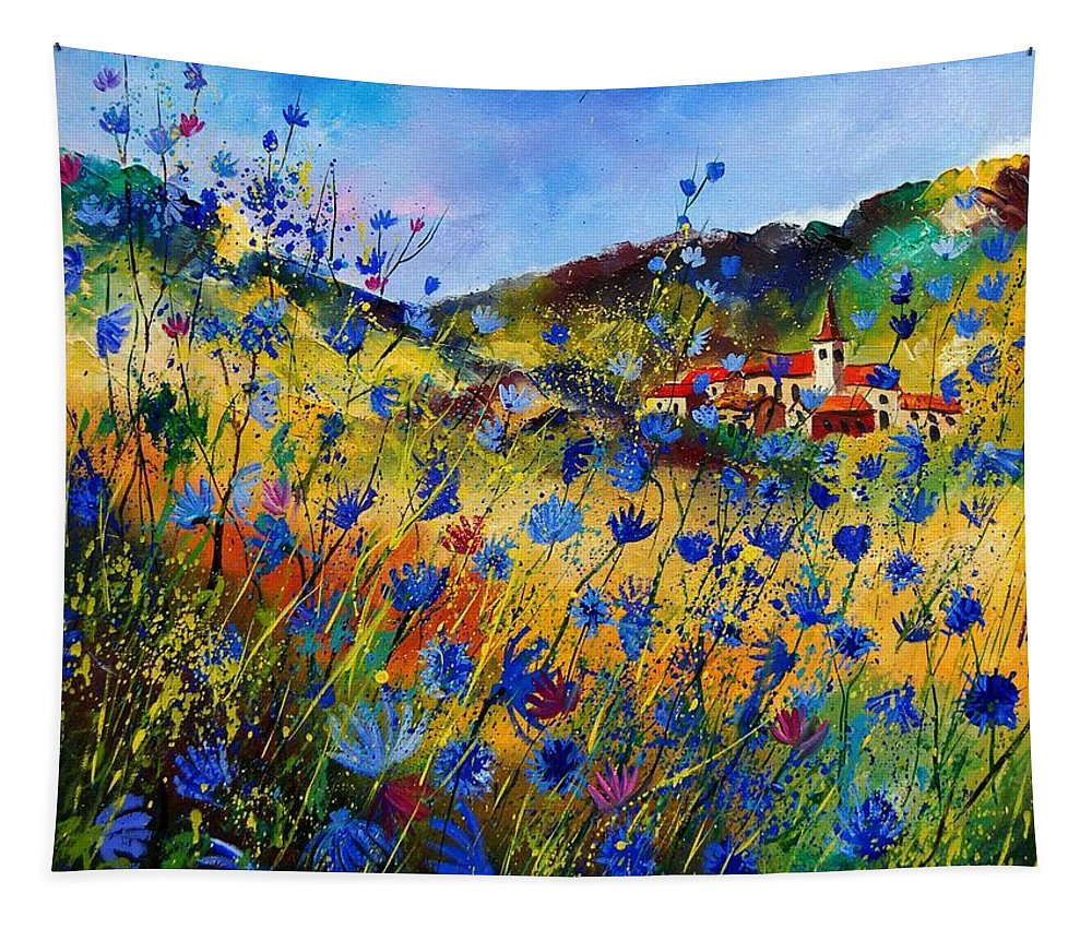 Flowers Tapestry featuring the painting Summer Glory by Pol Ledent