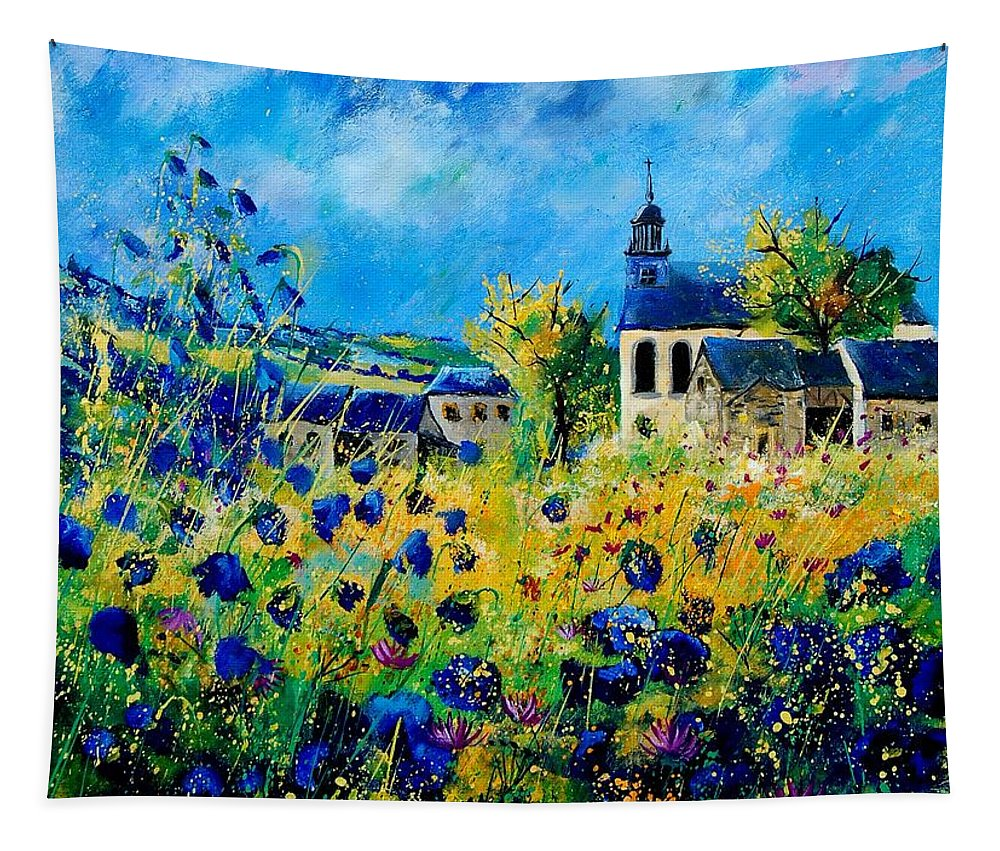 Poppies Tapestry featuring the painting Summer In Foy Notre Dame by Pol Ledent
