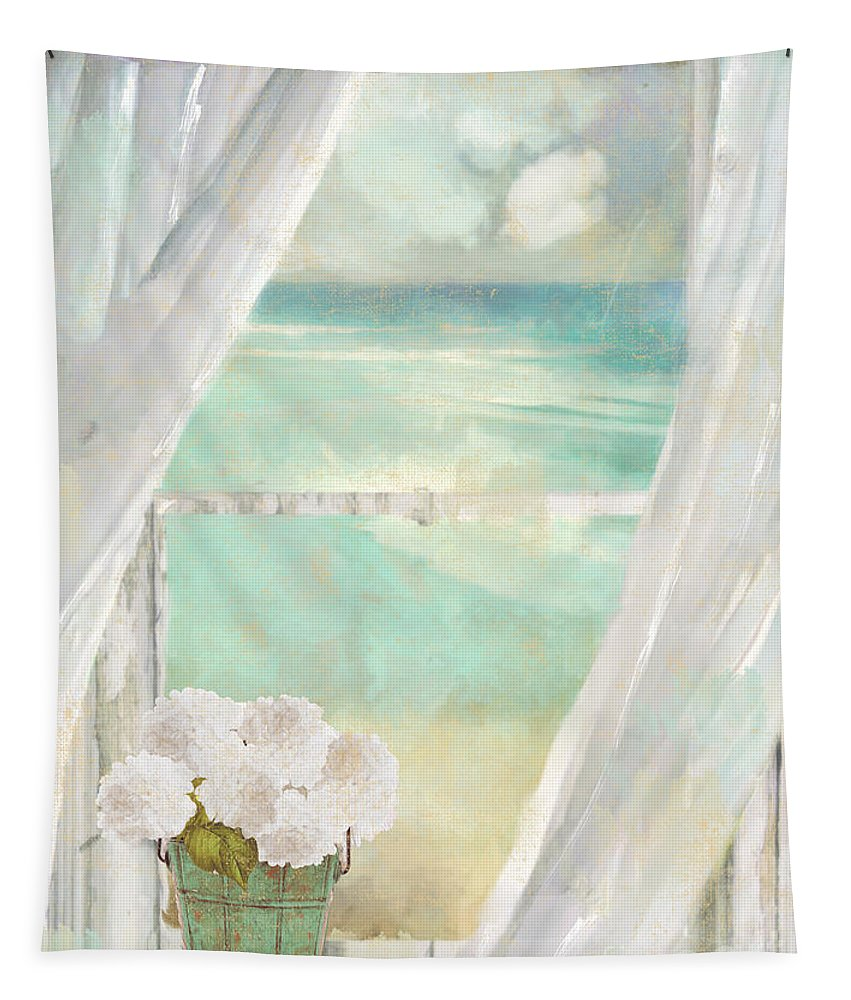 Beach Tapestry featuring the painting Summer Me by Mindy Sommers