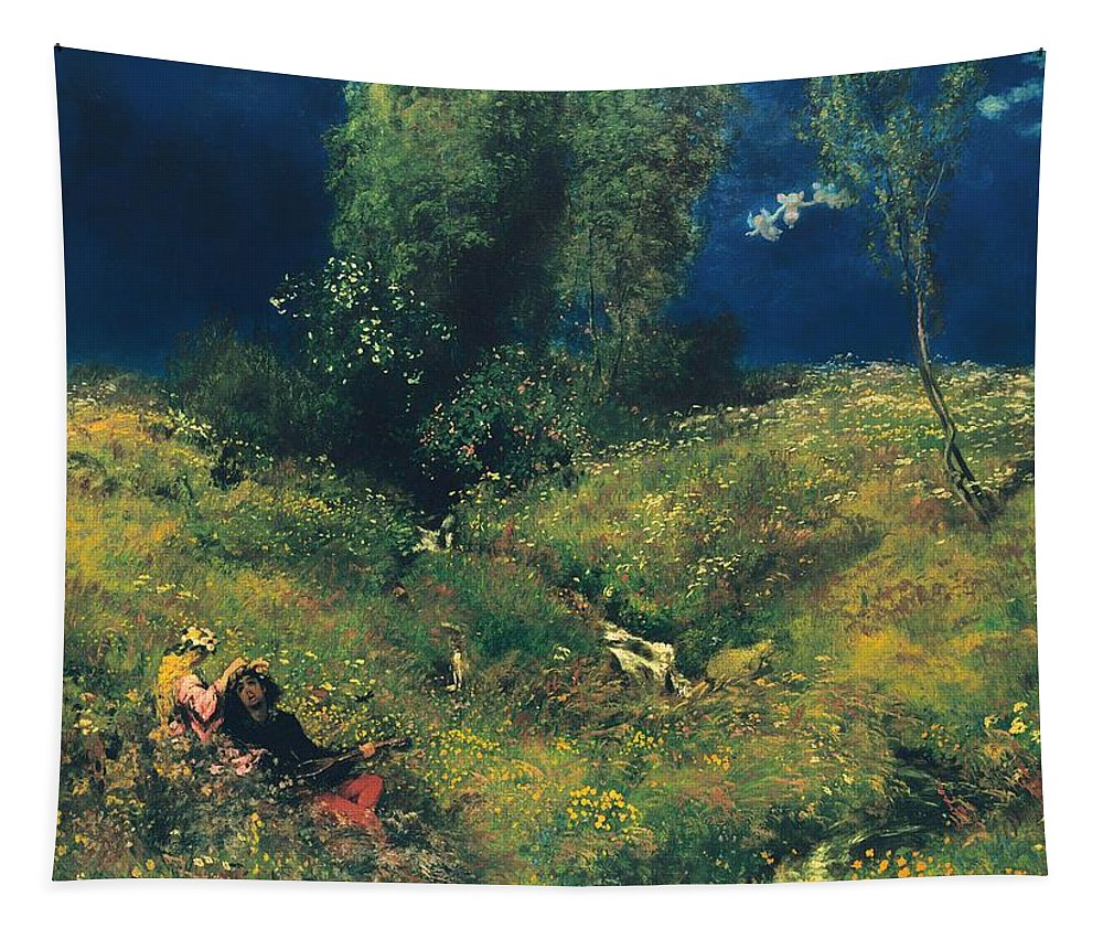 Painting Tapestry featuring the painting Summer Meadow by Mountain Dreams