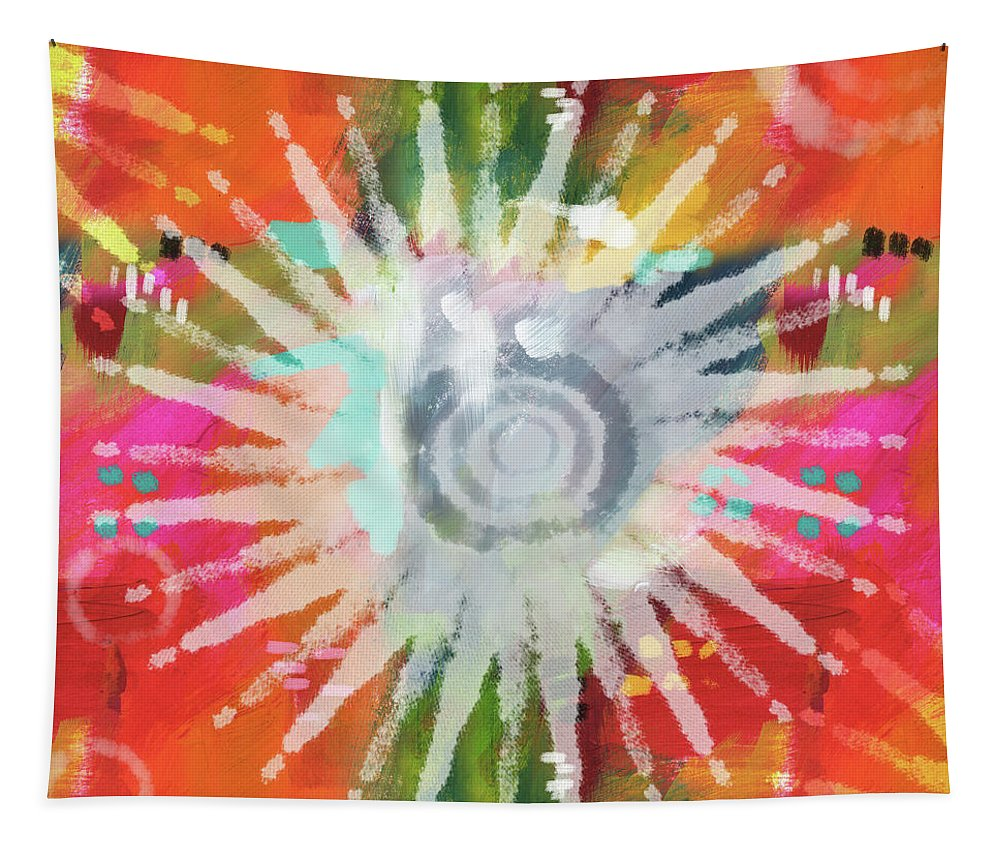 Groovy Tapestry featuring the mixed media Summer Of Love- Art By Linda Woods by Linda Woods