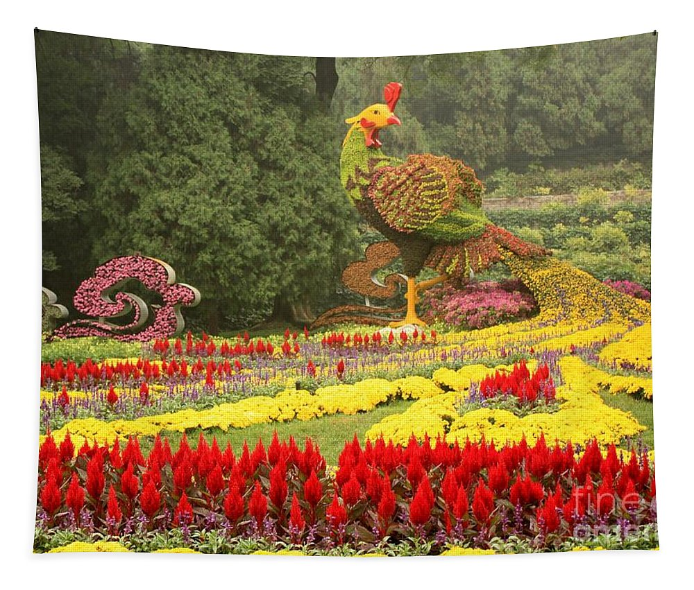 Phoenix Symbol Of Empress Tapestry featuring the photograph Summer Palace Flower Phoenix by Carol Groenen