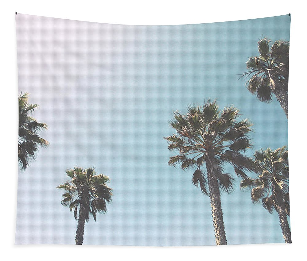 Palm Trees Tapestry featuring the photograph Summer Sky- by Linda Woods by Linda Woods