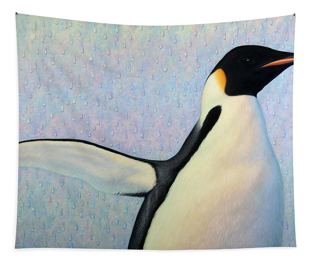 Penguin Tapestry featuring the painting Summertime by James W Johnson
