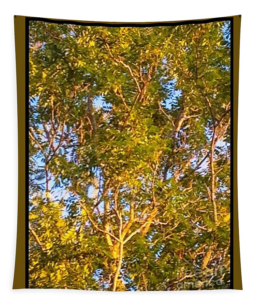 Tree Tapestry featuring the photograph Summertime Tree by Debra Lynch