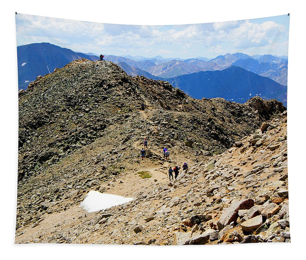 Mount Massive Tapestry featuring the photograph Summit On Mount Massive Summit by Steve Krull