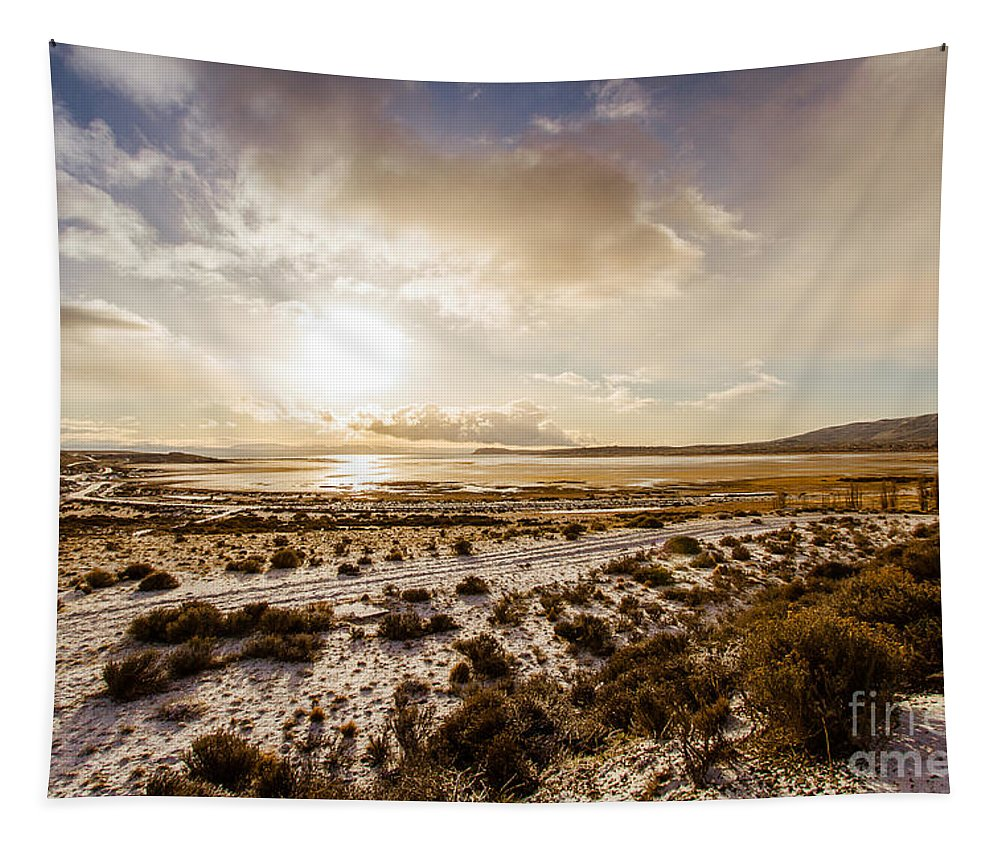 Nature Tapestry featuring the photograph Sun Above Lake Argentino by Mirko Chianucci