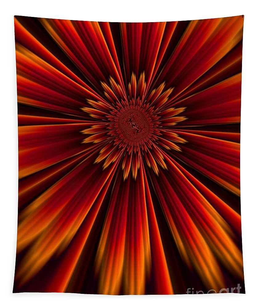 Sunburst Tapestry featuring the digital art Sunburst by John Edwards