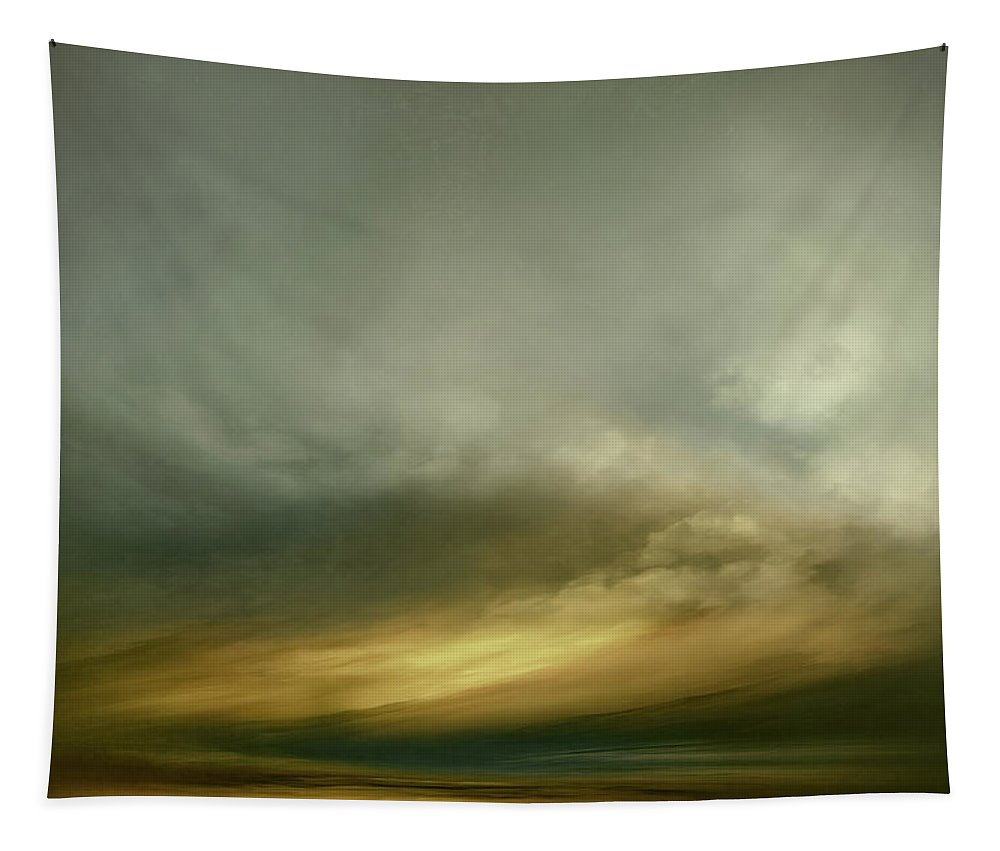 Atmosphere Tapestry featuring the mixed media Sundance Traditional by Lonnie Christopher