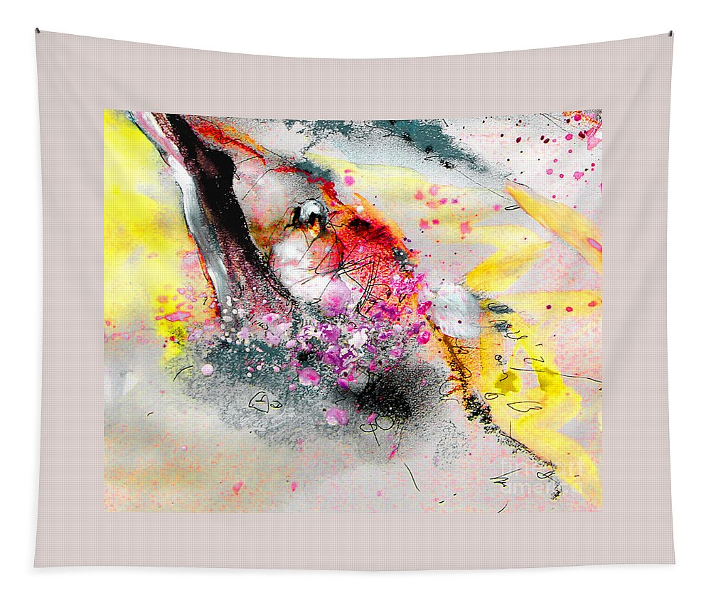 Pastel Painting Tapestry featuring the painting Sunday By The Tree by Miki De Goodaboom