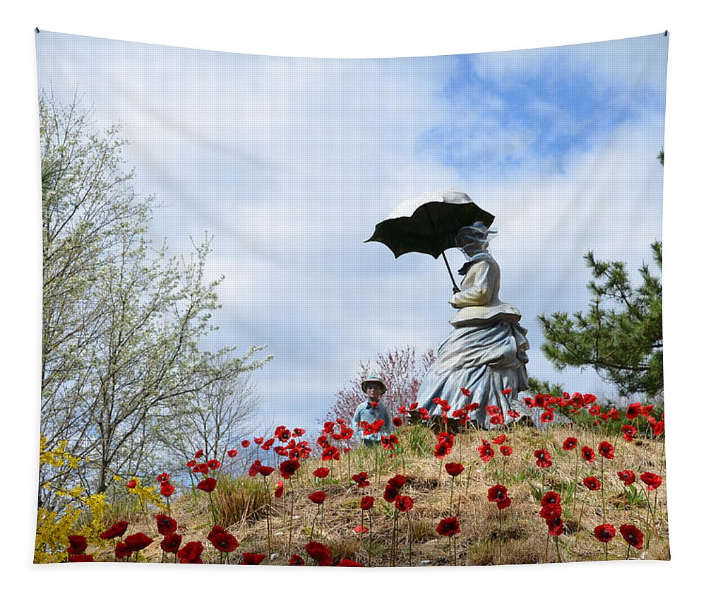 Sunday Tapestry featuring the photograph Sunday In The Park by Bill Cannon