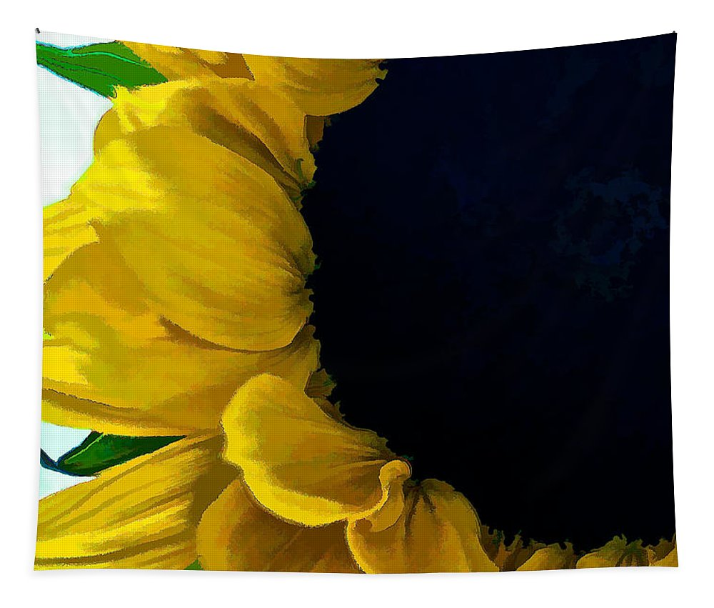 Santa Tapestry featuring the digital art Sunflower by Charles Muhle