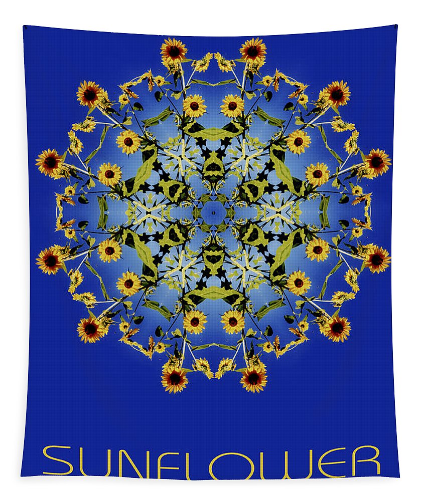 Mandala Tapestry featuring the photograph Sunflower Mandala by Nancy Griswold