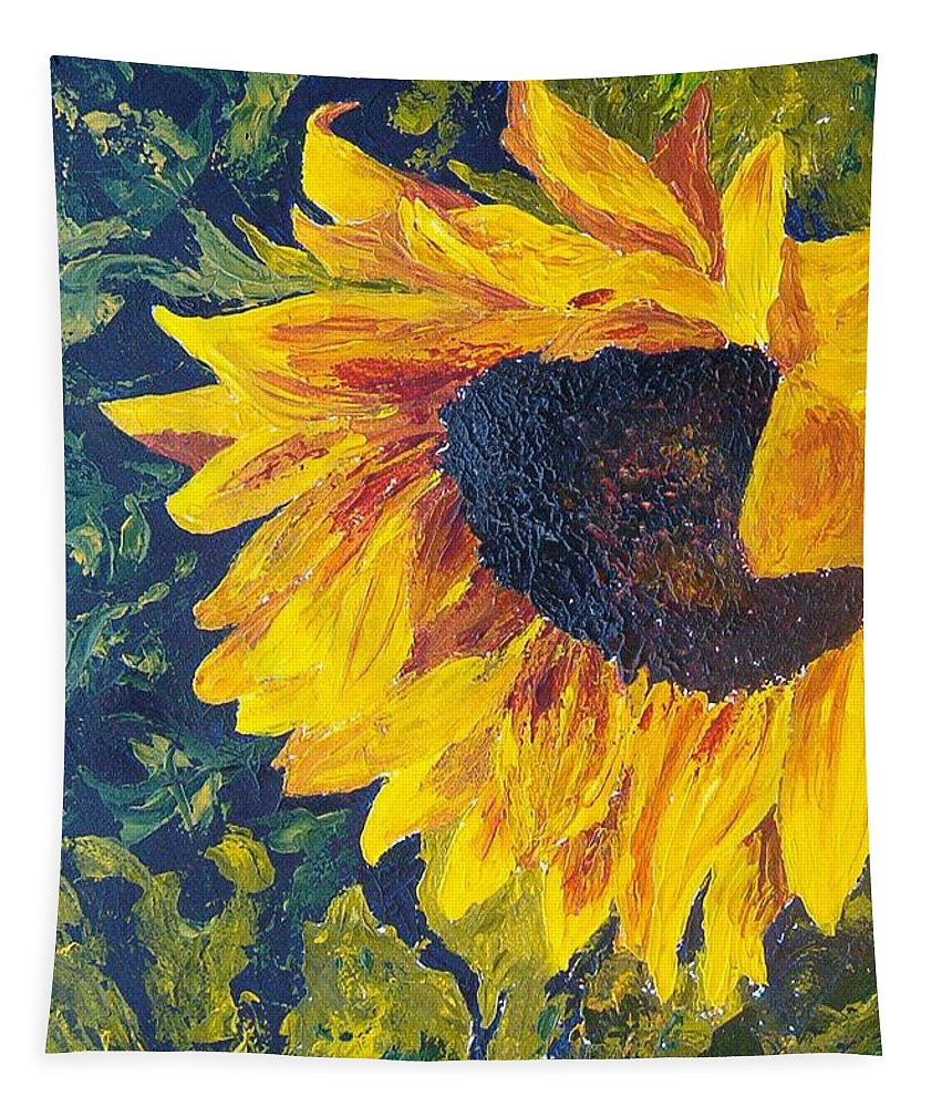 Tapestry featuring the painting Sunflower by Tami Booher