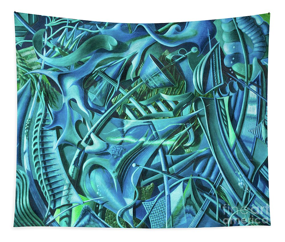 Fine Art Tapestry featuring the drawing Sunken Sails by Scott Brennan