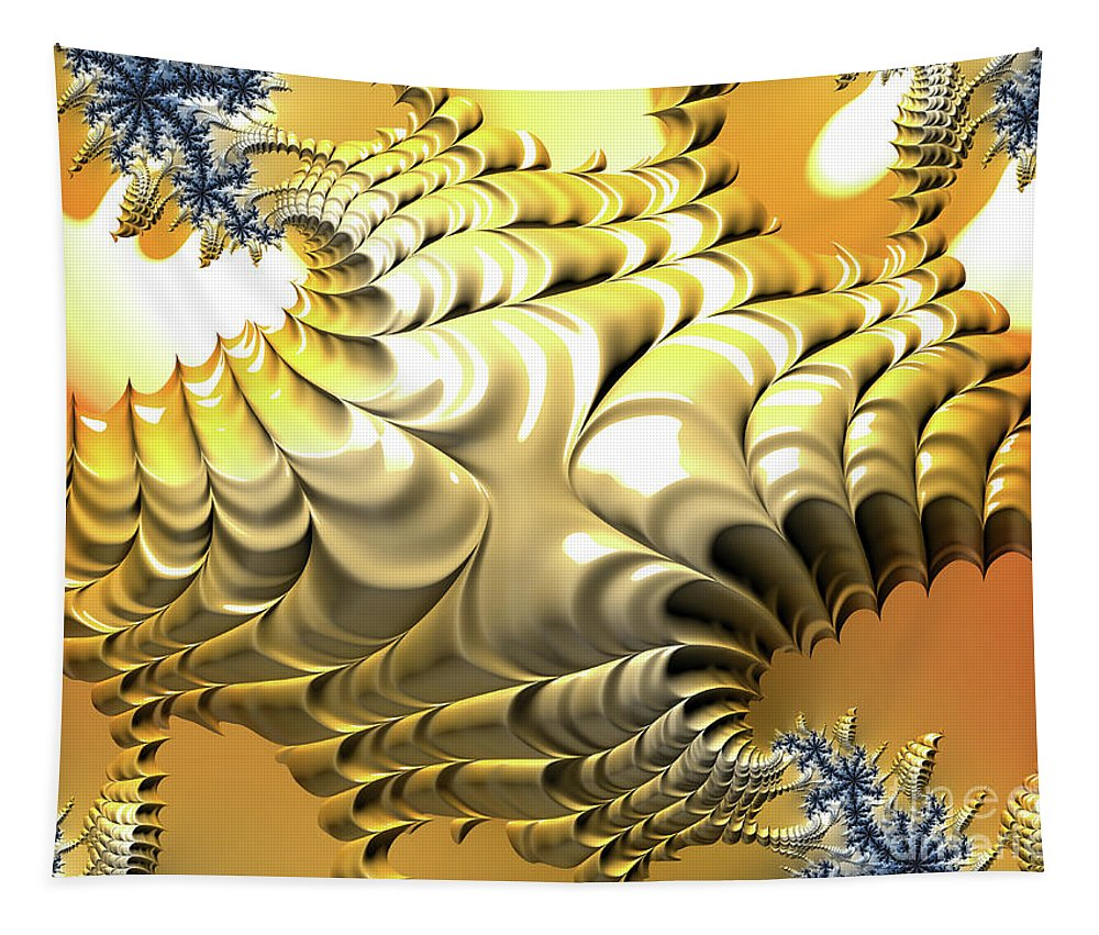 Fractals Tapestry featuring the digital art Sunny Island by Elisabeth Lucas