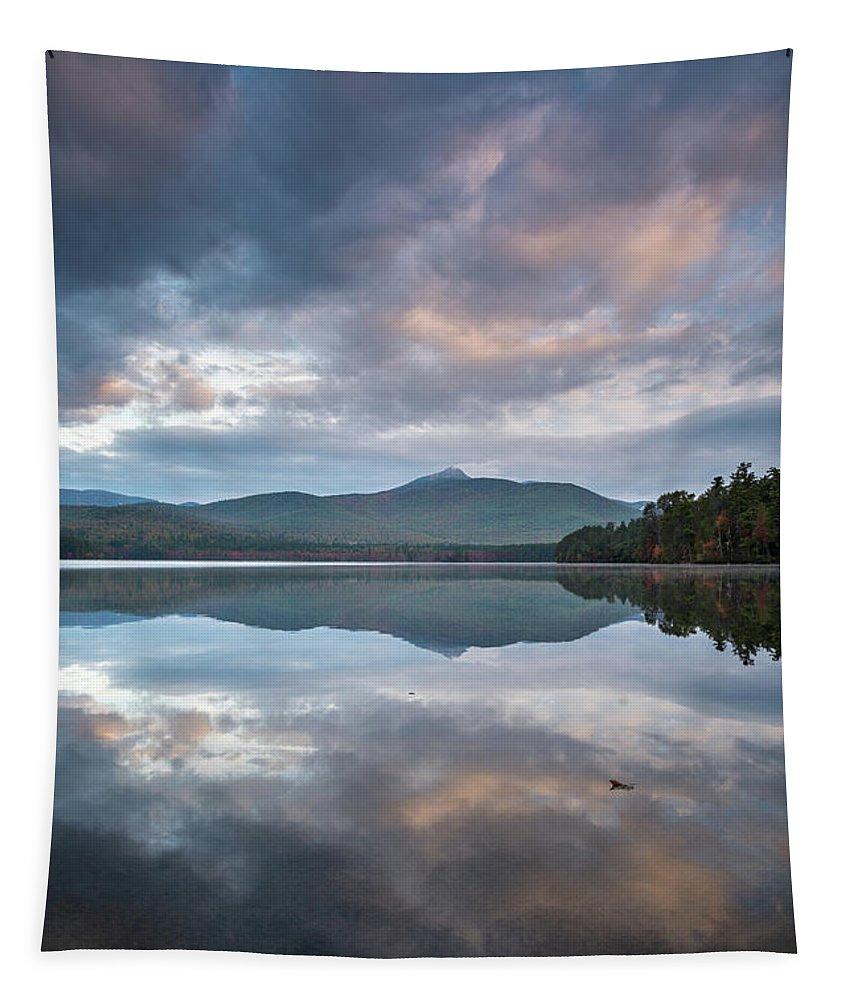 Sunrise Tapestry featuring the photograph Sunrise At Chocorua Lake -2 by Jatinkumar Thakkar