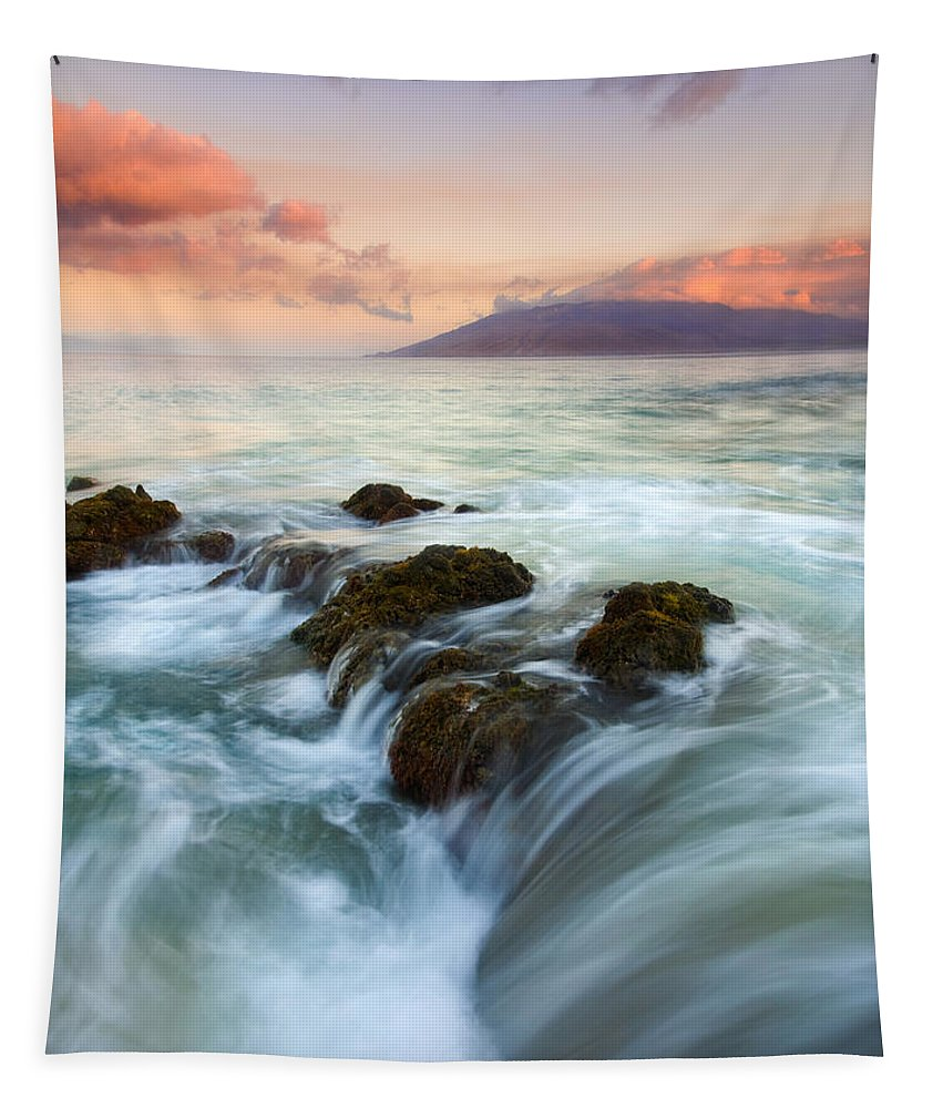 Sunrise Tapestry featuring the photograph Sunrise Drain by Mike Dawson