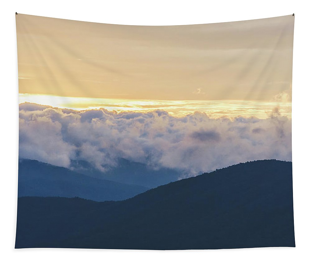 North Georgia Tapestry featuring the photograph Sunrise In North Georgia Mountains 2 by Andrea Anderegg