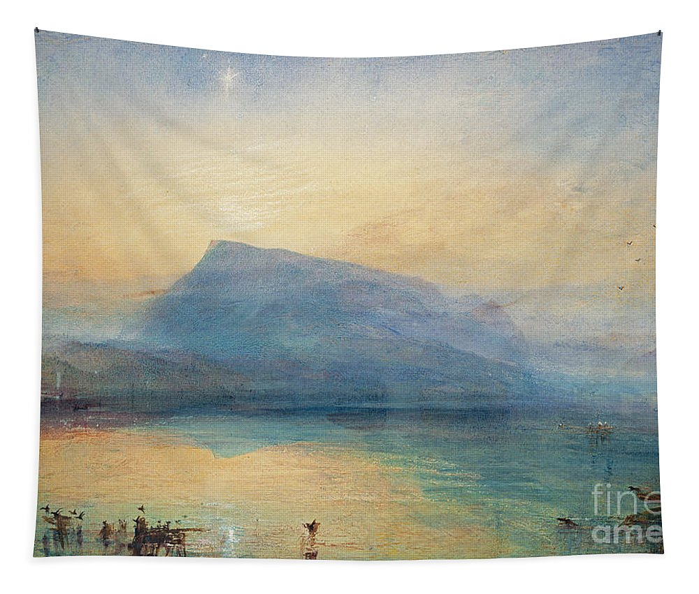 The Tapestry featuring the painting Sunrise by Joseph Mallord William Turner