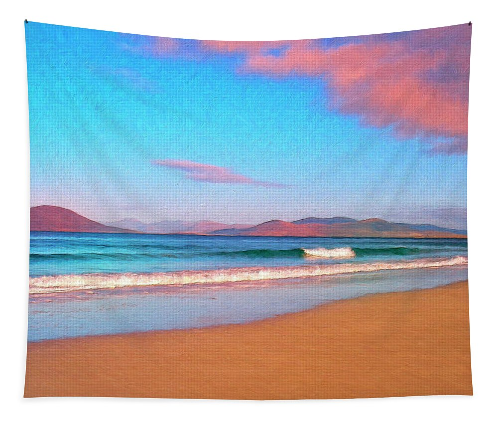 Ocean Tapestry featuring the painting Sunrise On Sea Of Cortez by Dominic Piperata