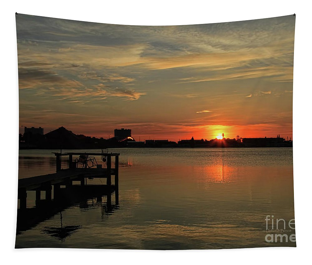 Sunrise Tapestry featuring the photograph Sunrise On The Halifax by Deborah Benoit