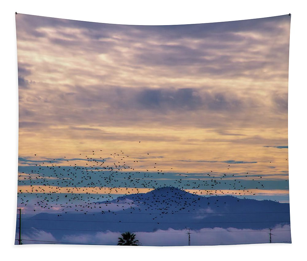 Sunrise Tapestry featuring the digital art Sunrise On The Highway by Terry Davis