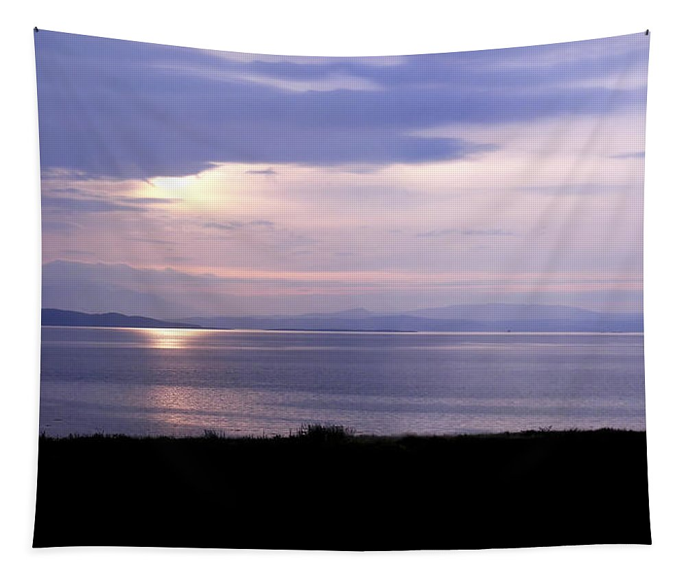 Landscape Tapestry featuring the photograph Sunrise Over The Mainland by Mary Lane
