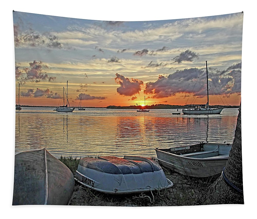 Florida Sunrise Tapestry featuring the photograph Sunrise - Rise And Shine by HH Photography of Florida