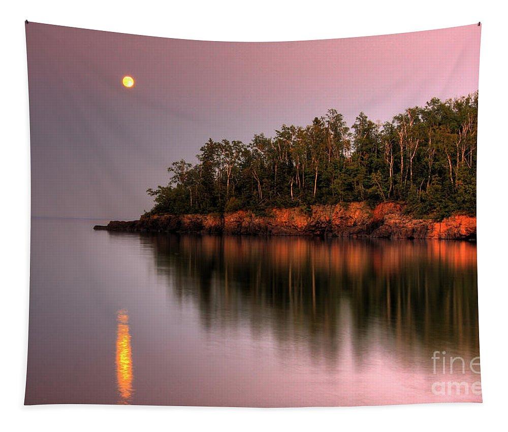 #photogtipsandtricks Tapestry featuring the photograph Sunrise Sunset On Lake Superior 2 by Wayne Moran