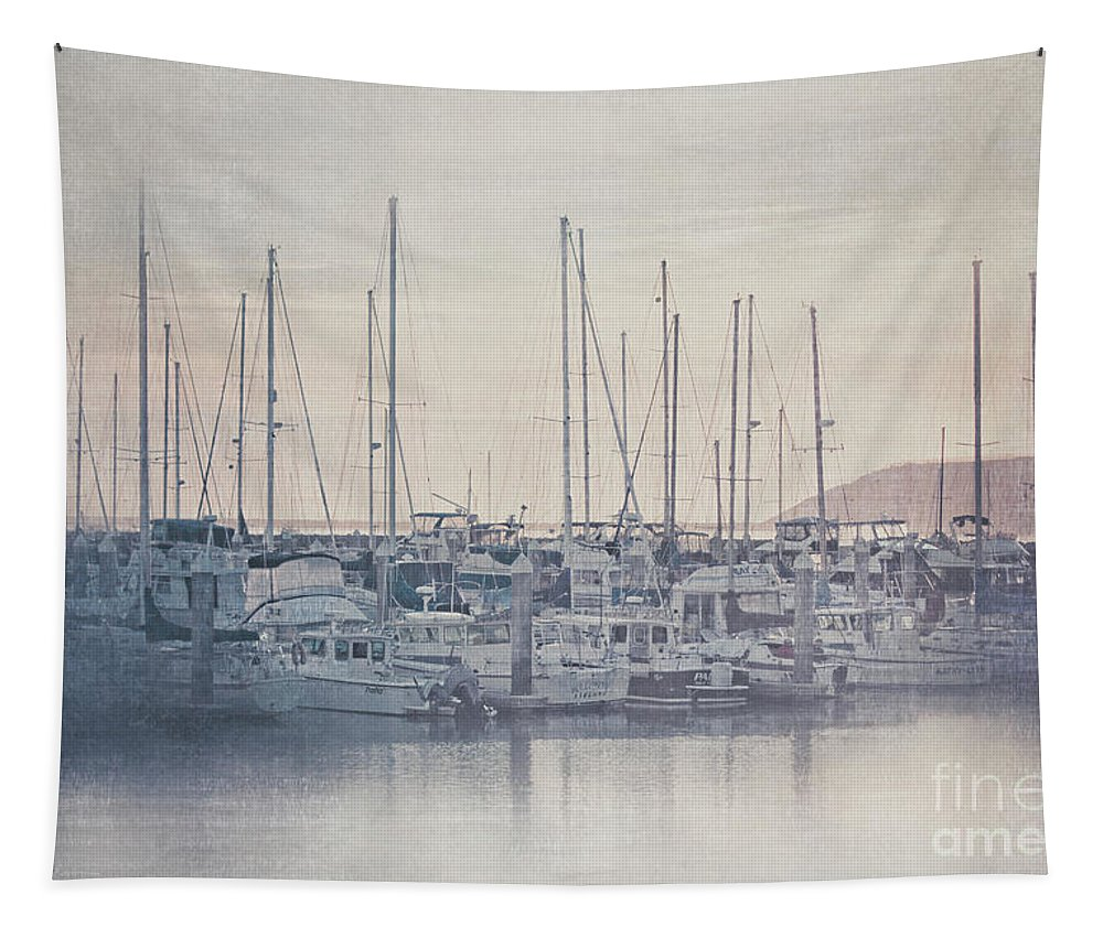 California Tapestry featuring the photograph Sunset At The Marina by Teresa Wilson