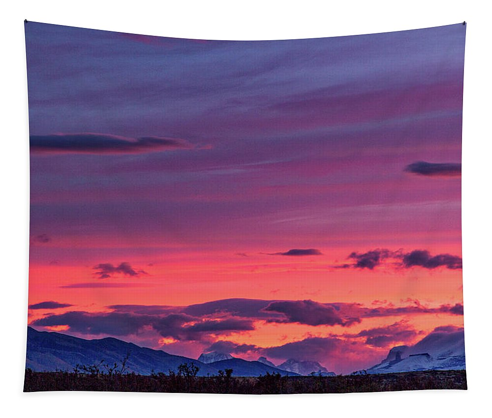 Patagonia Tapestry featuring the photograph Sunset At The Ranch #2 - Patagonia by Stuart Litoff