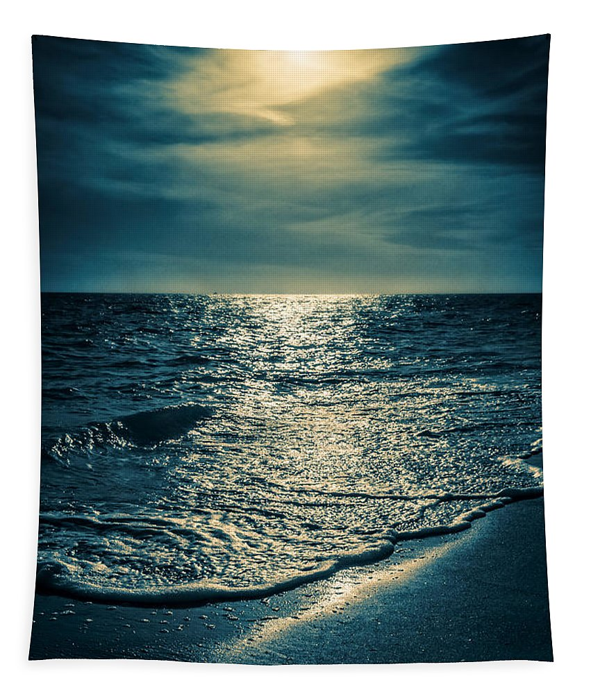 Bowman Tapestry featuring the photograph Sunset Bowman Beach Sanibel Florida by Edward Fielding